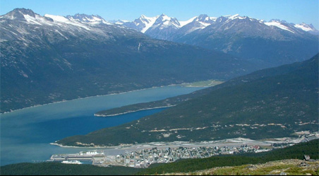 View of Skagway from Devil's Punchbowl