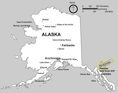Basic Map Of Alaska Showing Cities And Towns In The State