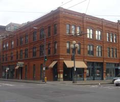 Klondike Gold Rush National Historical Park visitor center in the historic Cadillac Hotel Building in Seattle