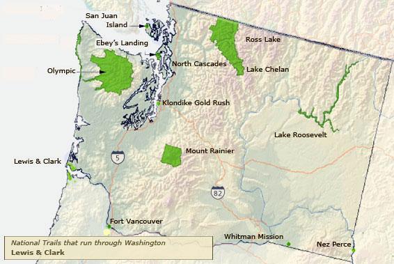 Washington National Parks Map Swimnova: National Parks In Washington State Map At Slyspyder.com