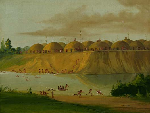 Hidatsa Village, Earth-covered Lodges on the Knife River, 1810 Miles Above St. Louis