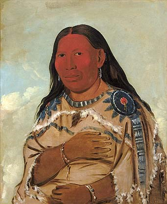 Wife of Two Crows by artist George Catlin