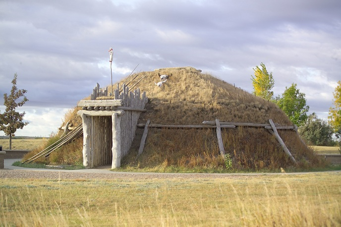 Earthlodge Located At Knife River Indian Villages National Historic Site