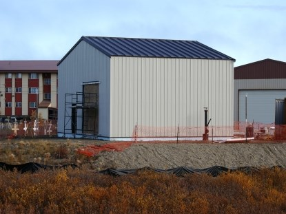 UIC Construction erected the maintenance building very quickly.