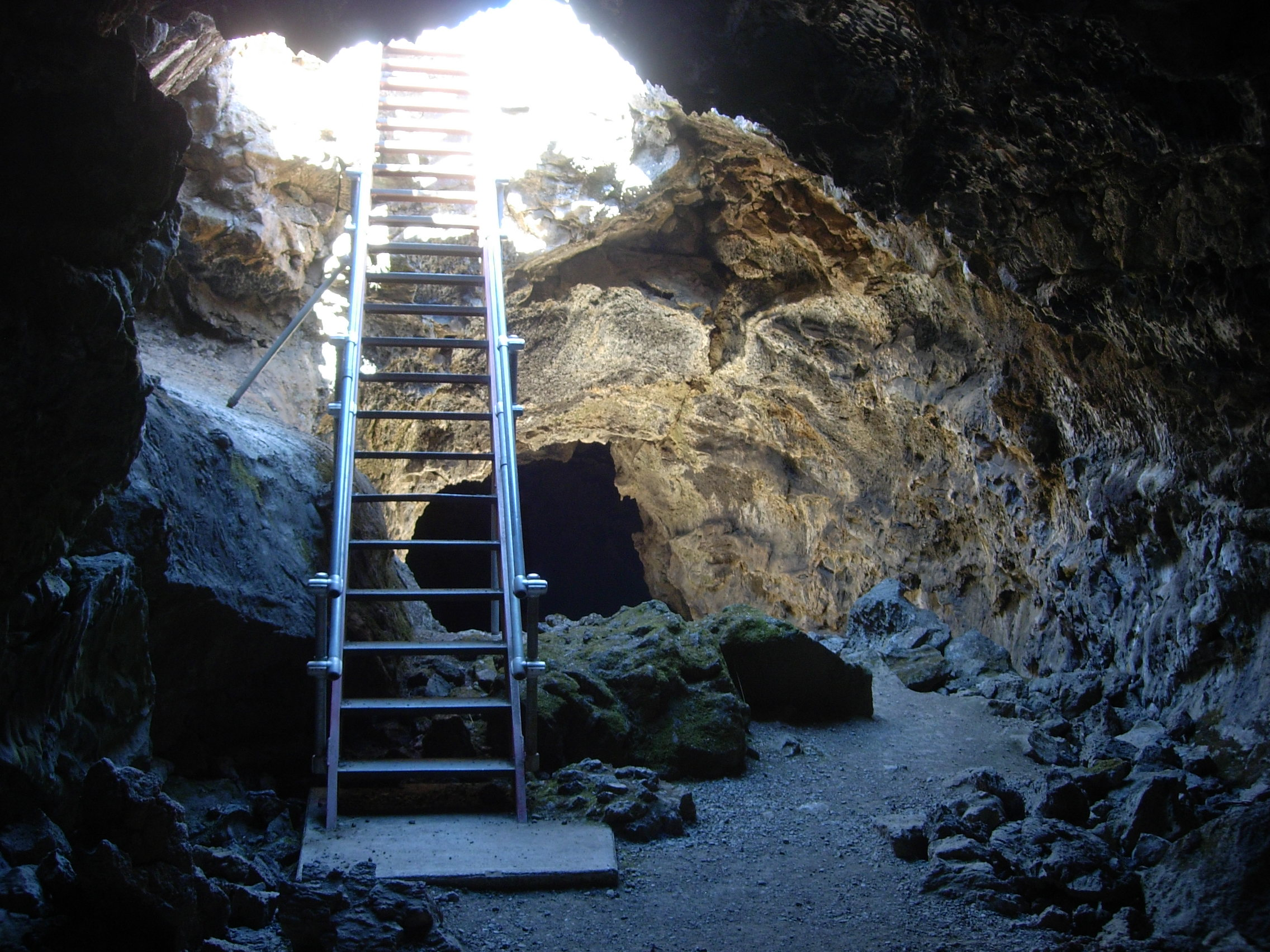 Entrance to Blue Grotto Cave. Blue Grotto is one of the caves that is open seasonally in the winter, but will be closed for the summer season beginning on April 25 (NPS Photo)
