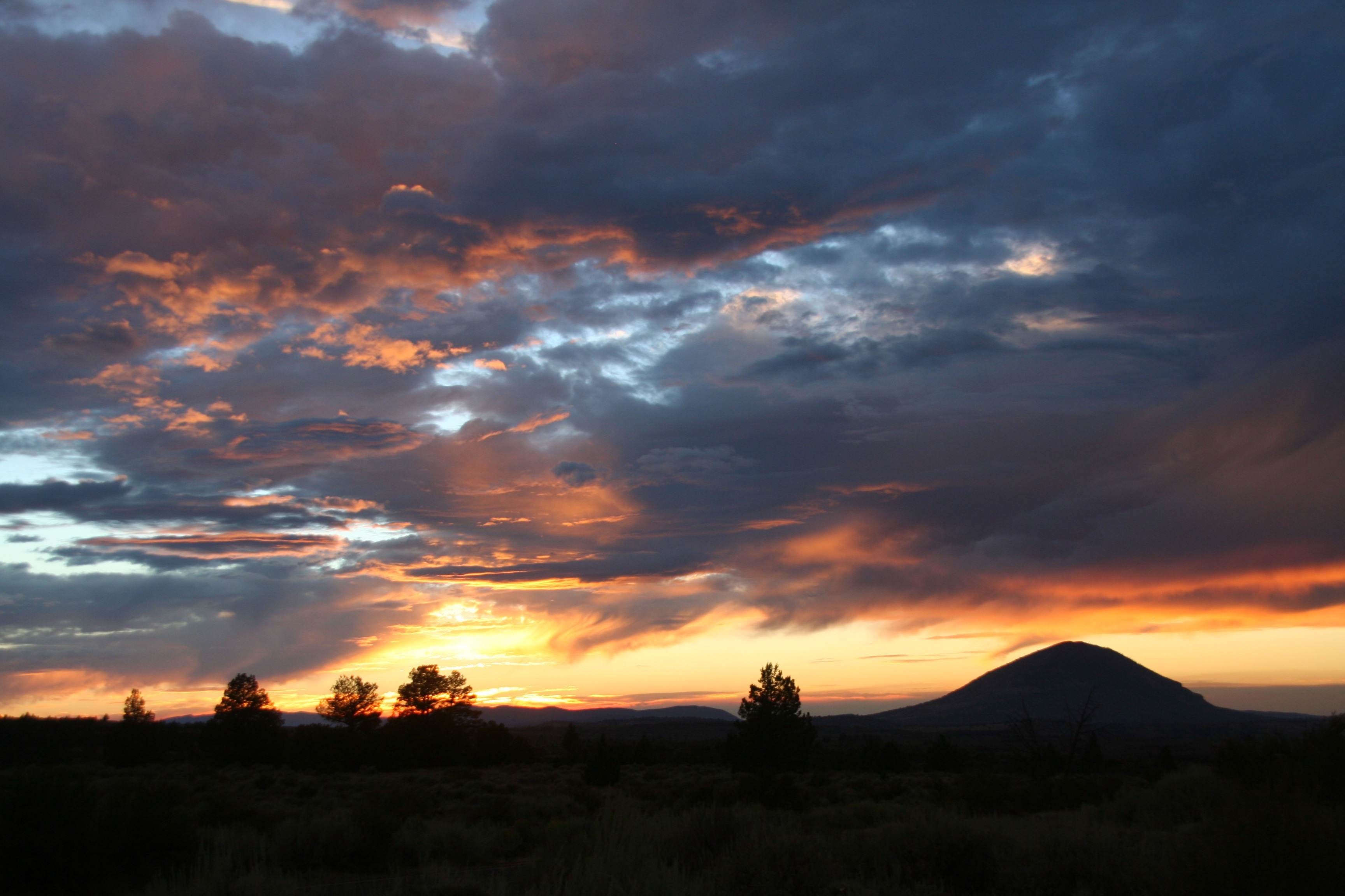 Summer sunsets from Lava Beds