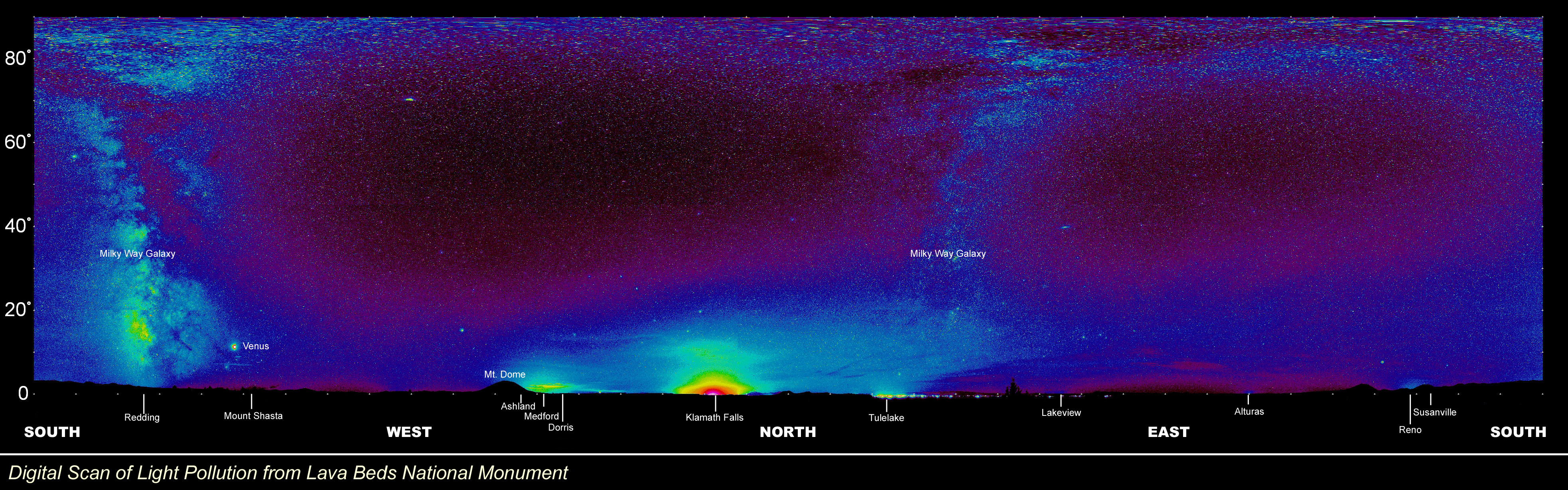 "A Digital Scan of the Night Sky over Lava Beds - Right Click and ""Save Picture As"""