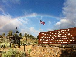 Rainbow at Lava Beds