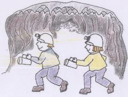 Caving with a friend