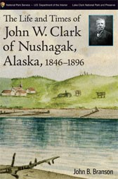 book cover showing a pencil drawing of a lake and hills, with a small historic photo of a man in the corner