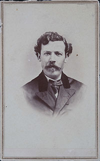 Earliest known photograph of John W. Clark, circa 1870.