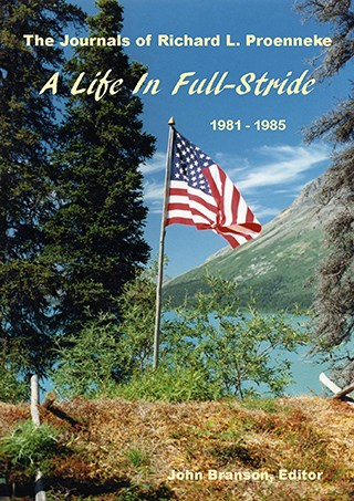 Book cover with photo of a sod cabin roof flying the American flag.