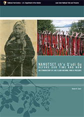 book cover showing historic image of an Alaska Native woman and a modern day image of salmon strips drying in the sun