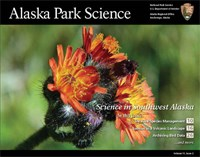 cover of a journal showing orange flowers and the words Alaska Park Science