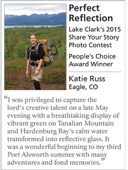 Photo of Katie Russ's artist placard that was displayed with her People's Choice Award winning photo in 2015.