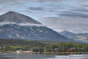 Hardenburg Bay on Lake Clark is the point of access for the small community of Port Alsworth.