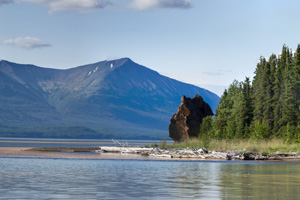 Priest Rock on Lake Clark