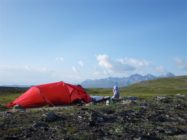 Camp south of Telaquana Lake.
