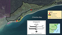 Map of Chinitna Bay indicating area closed to public access