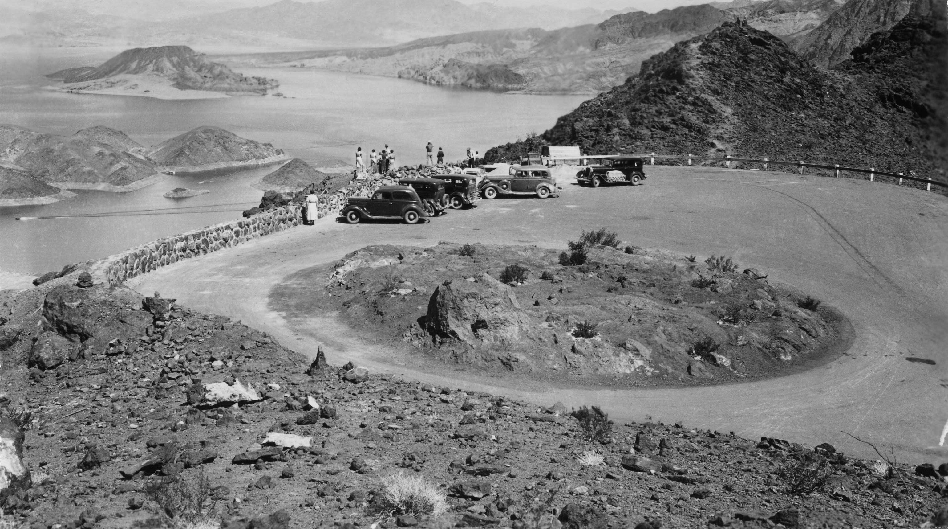 Lakeview Observation Point showing Lake Mead in Background, June, 1936