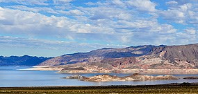 A view of Lake Mead with Fortification Hill in the background