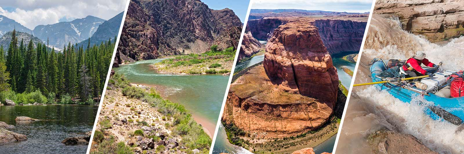 The Colorado River takes many forms during its 1450-mile journey across the West, from a meandering alpine stream to raging rapids.