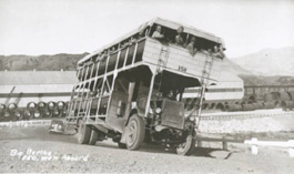 """Big Bertha"" the bus used to transport workers to the Hoover Dam site"