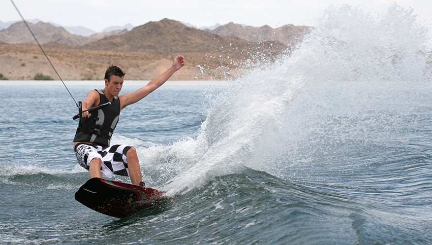 Wake Boarding on Lake Mohave