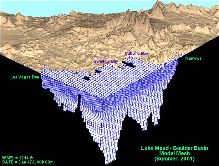 Three dimensional water quality model