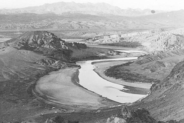 The Colorado River before the Hoover Dam was built