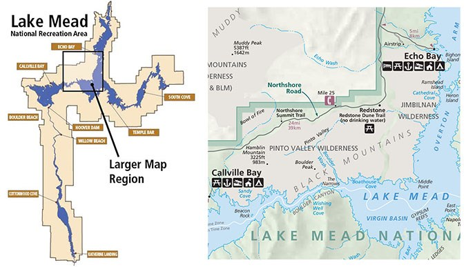 HamblinCleopatra Volcano Lake Mead National Recreation Area - Map of active volcanoes in the us