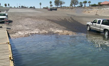 A Lake Mead ramp at low water