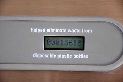 Six months after being installed, the hydration station at the Alan Bible Visitor Center at Lake Mead National Recreation Area has filled more than 13,600 bottles, reducing water bottle waste in landfills.