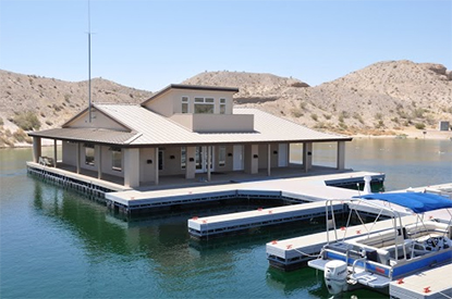 Cottonwood Cove Resort and Marina on Lake Mohave has made history, becoming the world's first floating green building to receive the prestigious LEED® (Leadership in Energy and Environmental Design) Gold certification by the U.S. Green Building Council (USGBC).