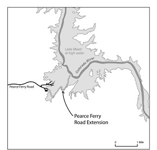 Pearce Arizona Map.Pearce Ferry Road Extension Announced Lake Mead National