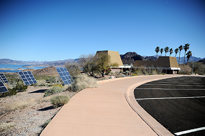 Lake Mead National Recreation Area's Alan Bible Visitor Center reopened Feb. 15 after two-years of renovation. New windows and a new photovoltaic system will offset up to 25 percent of energy consumption at the facility. (NPS Photo by Christie Vanover)