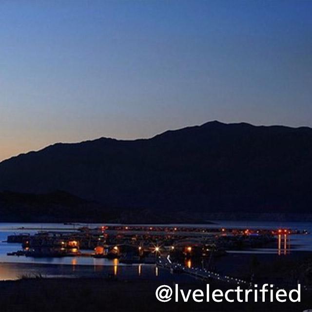 Night view of Callville Bay Marina