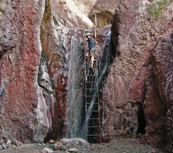 Ladder at Arizona hot springs