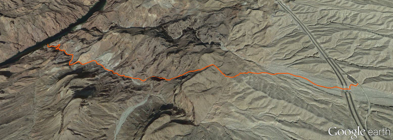 Hot Spring Canyon Route