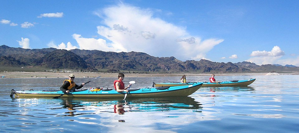Kayaking on Lake Mead