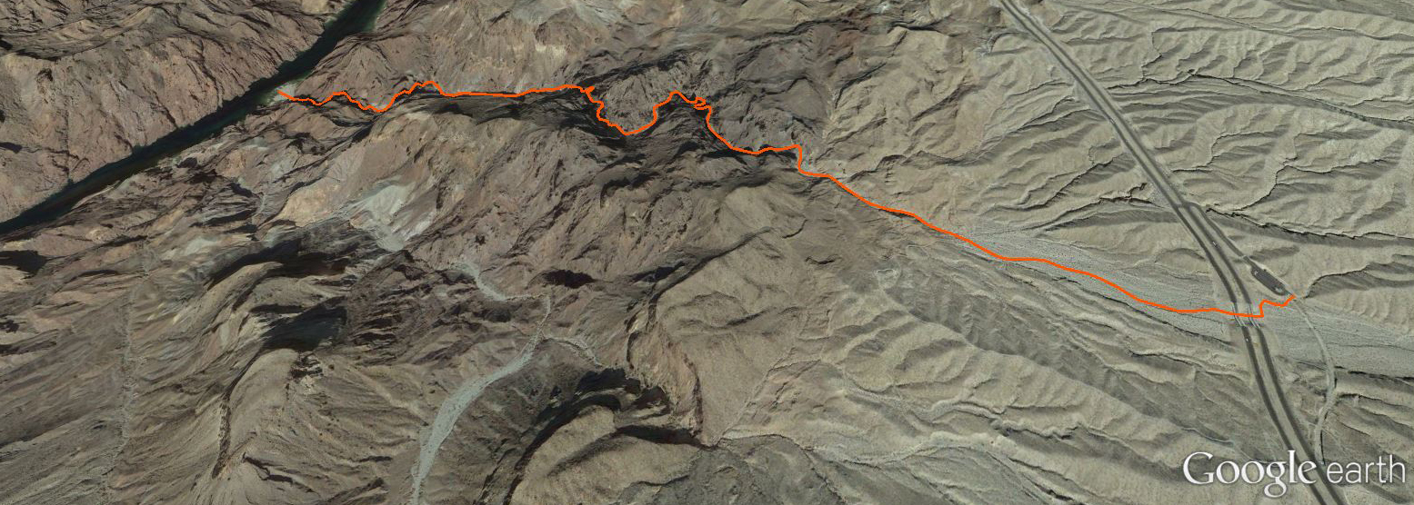 White Rock Canyon route