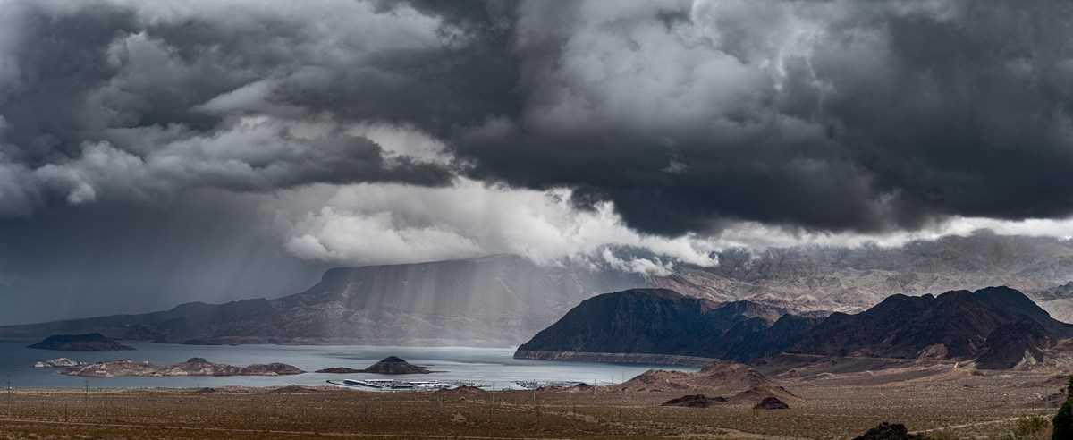 Storm over Lake Mead
