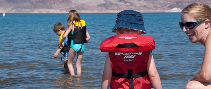Kids Swimming In A Lake swimming - lake mead national recreation area (u.s. national park