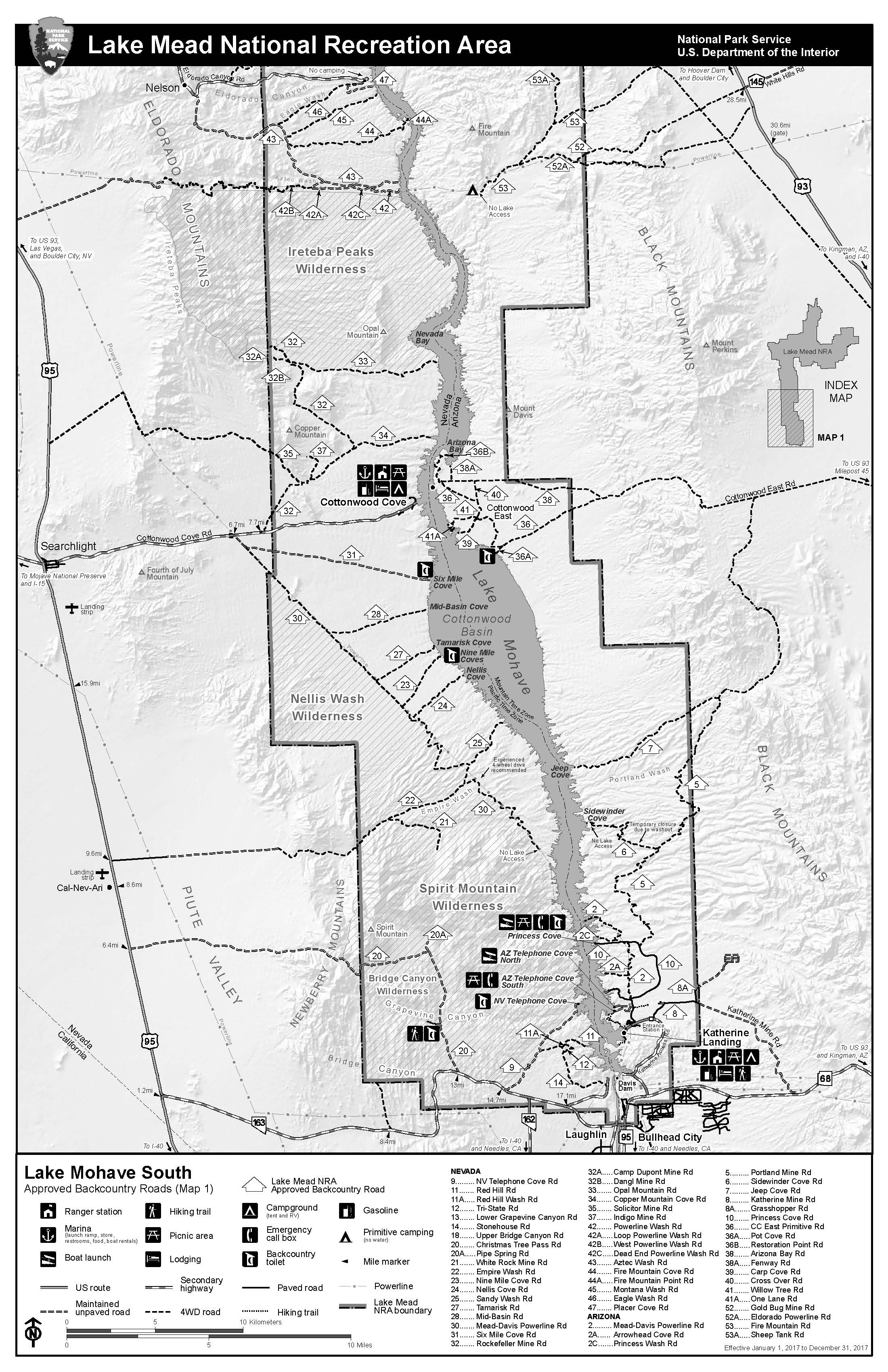 Maps Lake Mead National Recreation Area US National Park Service