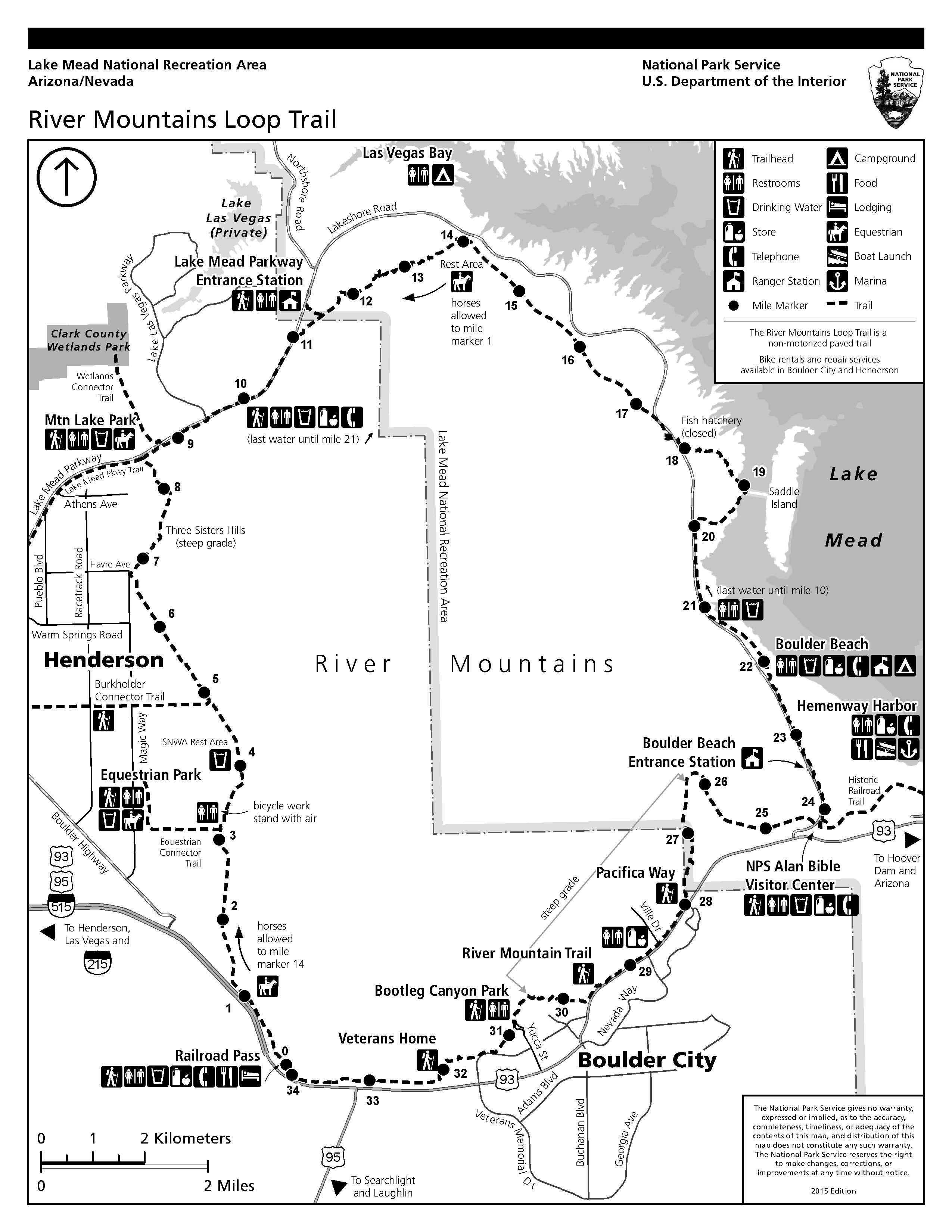 Hiking Lake Mead National Recreation Area US National Park Service