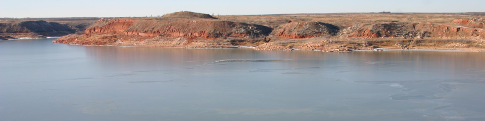 Lake Meredith National Recreation Area in the Panhandle of Texas