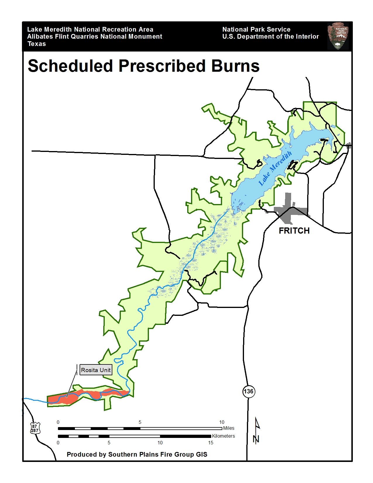 Prescribed burn planned for lake meredith national for Lake meredith fishing report