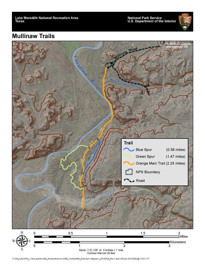 Mullinaw trail lake meredith national recreation area u for Lake meredith fishing report