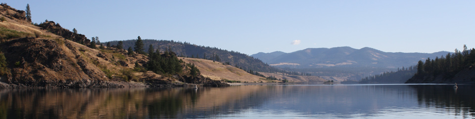 The calm, inviting waters of the Spokane Arm. Photo Credit: NPS\LARO\John Salisbury
