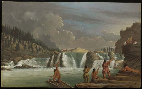 Painting by Paul Kane of Indians
